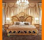 Model Set Tempat Tidur Kupu Gold Furniture Mewah FK KS 236