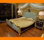 Set Kamar Tidur Mewah Duco Gold Furniture Jepara FK KS 271
