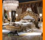 Set Tempat Tidur Mewah Ukiran Khas Jepara Model Kriting FK KS 281