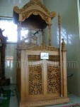 Mimbar Masjid Kayu Jati FK 501