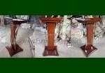 Aneka Mimbar Masjid Lengkung Kayu Jati Stainless Murah FK-PM 211