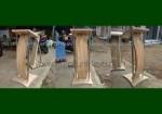 Contoh Podium Lengkung Jati Stainless Soko Belum Finishing FK-PM 215