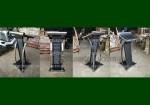 Harga Mimbar Minimalis Krepyak Kulit Sintetis Kombinasi Stainless Steel FK-PM 223
