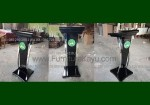 Harga Podium Lengkung Minimalis Stainless Modern Terbaru Black Glossy FK-PM 229