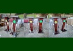 Harga Podium Minimalis Stainless Jati Jepara Model Terbaru FK-PM 235