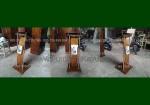 Jual Podium Jati Lengkung Top Kaca Solid FK-PM 241