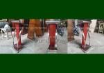 Jual Podium Mimbar Jati Jepara Kombinasi Stainless Steel FK-PM 243