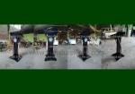Jual Podium Mimbar Jati Stainless Lengkung Black Glossy Promo Stock Terbaru FK-PM 245