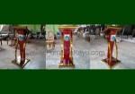 Jual Podium Stainless Atau Mimbar Minimalis Modern Logo DKI Jakarta FK-PM 253