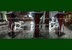 Jual Promo Stock Podium Stainless Mimbar Jati Jepara FK-PM 255