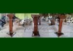 Mimbar Minimalis Stainless Lengkung Kayu Jati Solid FK-PM 267