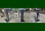 Mimbar Podium Minimalis Krepyak Kulit Sintetis Kombinasi Stainless Steel FK-PM 271