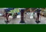 Podium Minimalis Krepyak Kayu Jati Solid Melamin Furnishing FK-PM 289