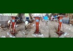 Podium Pidato Minimalis Stainless Kayu Jati Solid BNN Jakarta FK-PM 315