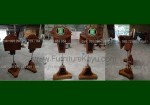 Ready Order Podium Minimalis Hidrolic Asli Kombinasi Kayu Jati Jepara FK-PM 327